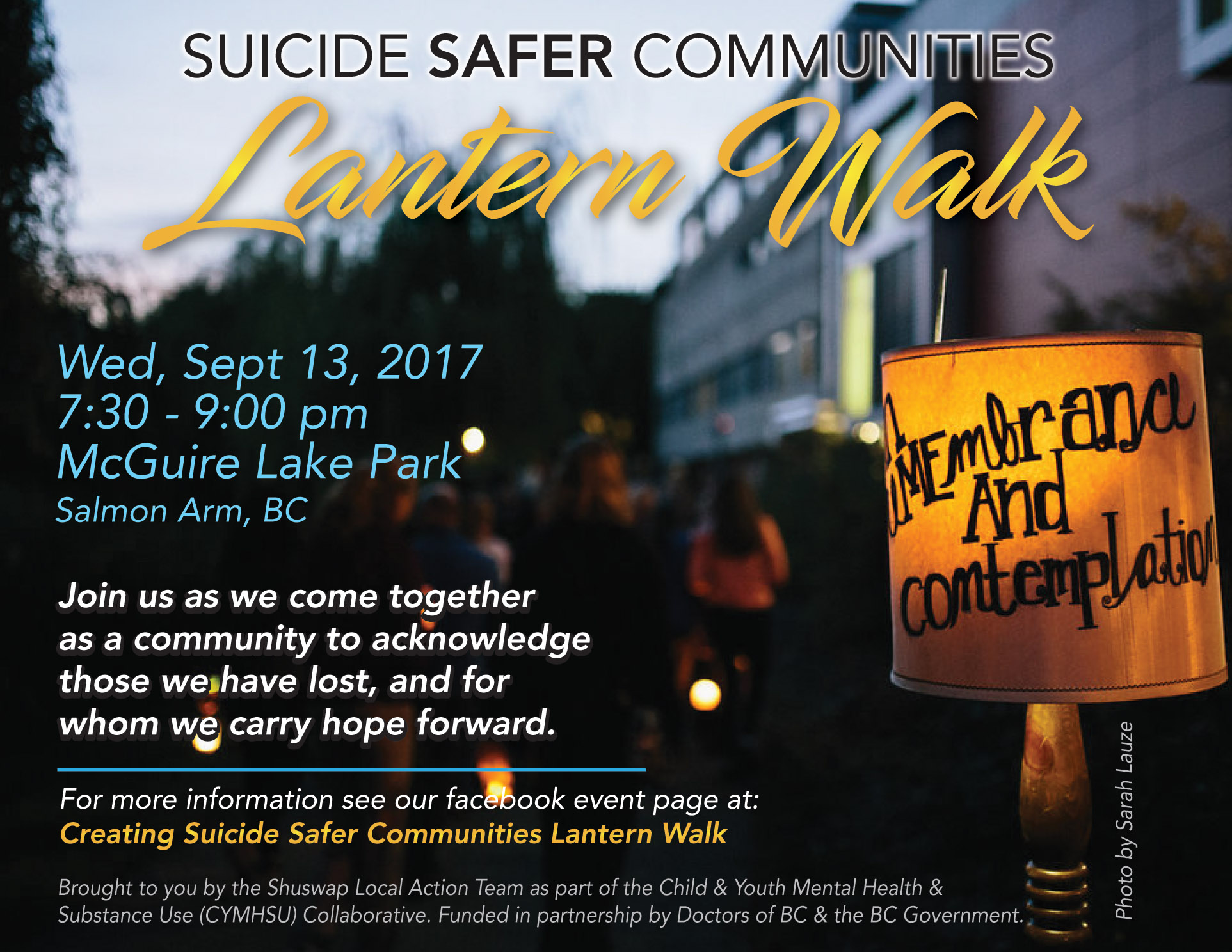 Suicide Safer Communities Lantern Walk