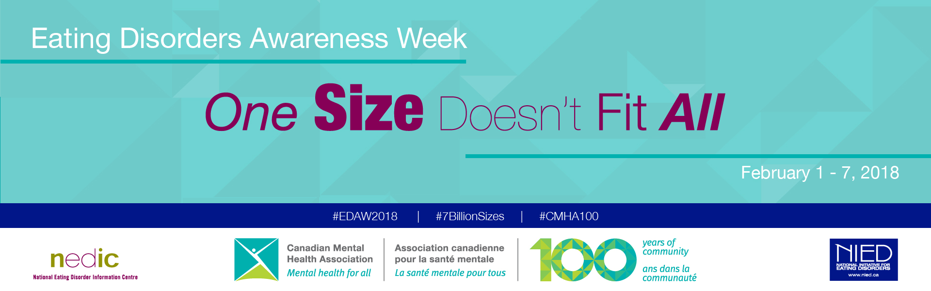 """Eating Disorders Awareness Week, """"One Size Doesn't Fit All"""""""