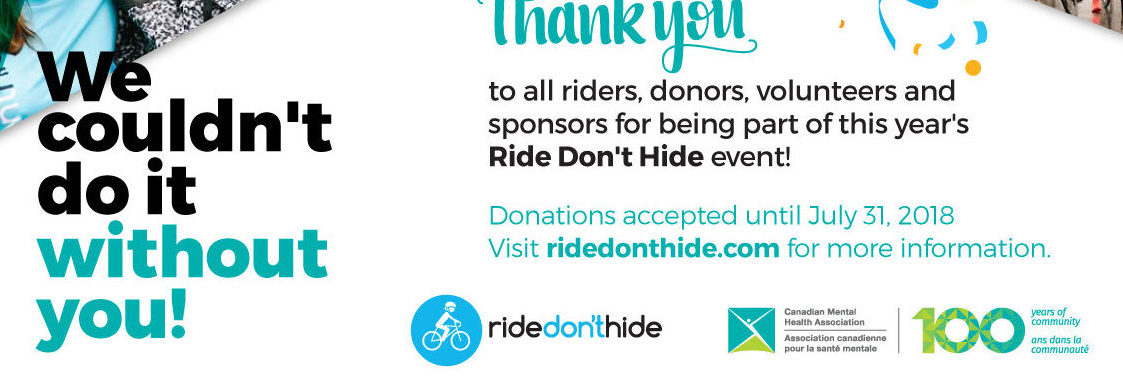 Thank-you From Ride Don't Hide June 24th